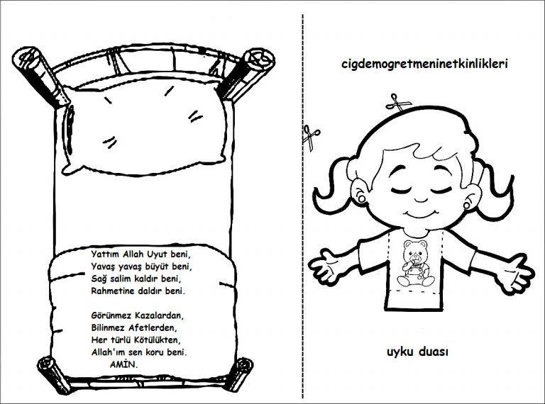 Uyku Duasi Okul Oncesi Etkinlikleri Okul Oncesi Okul Egitim Faaliyetleri