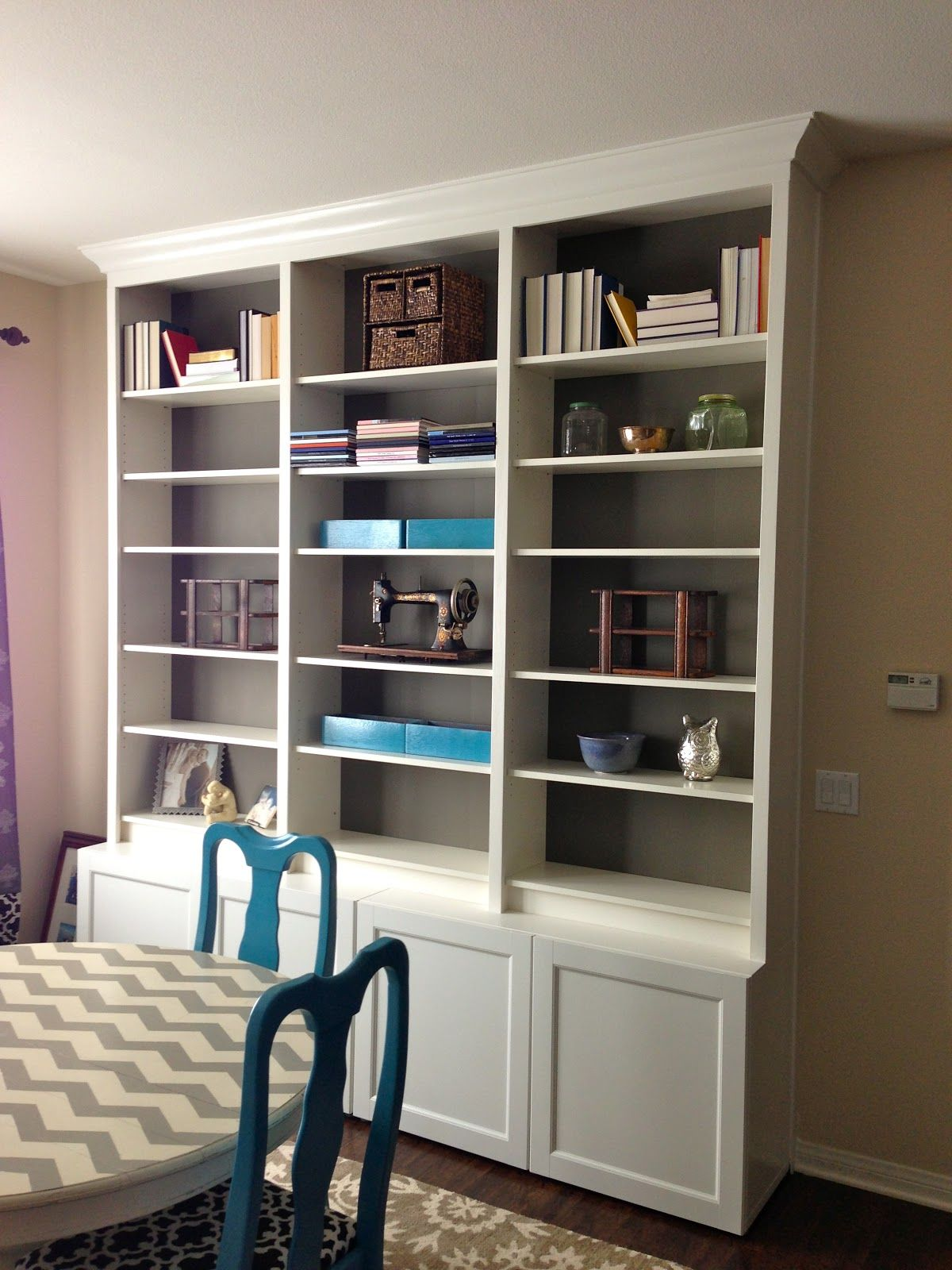 Ikea Faux Built Ins Ikea Built In Built In Bookcase Built Ins