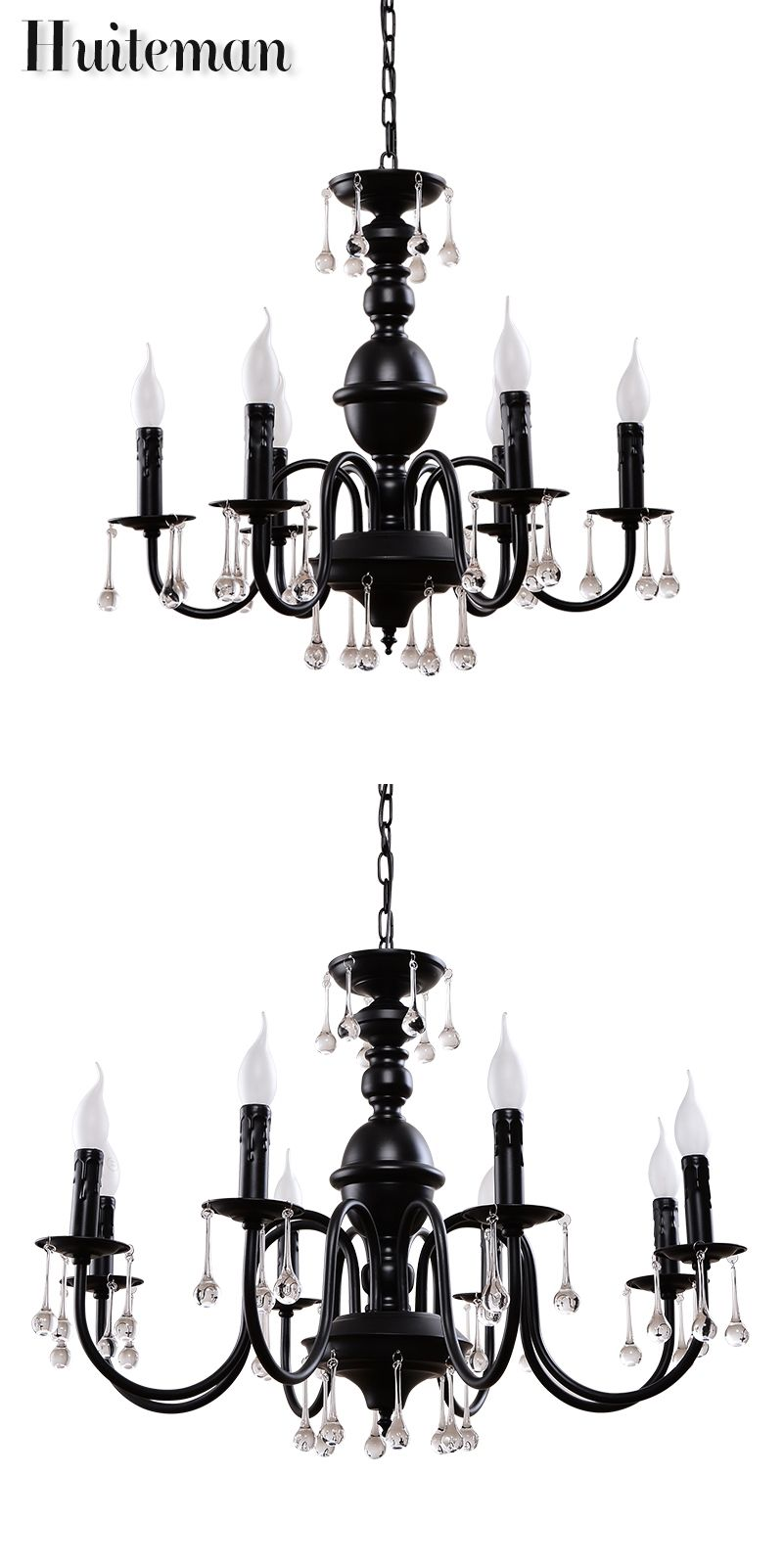 Huiteman Crystal Pendant Lights Modern Bed Room lustres de cristal ...