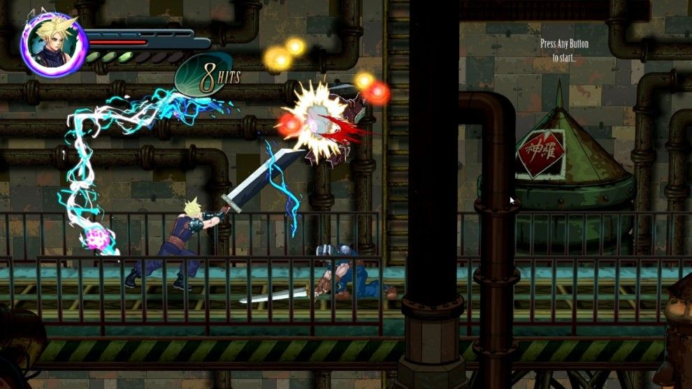 Final Fantasy VII: Re-Imagined as a 2D Side-scroller Action