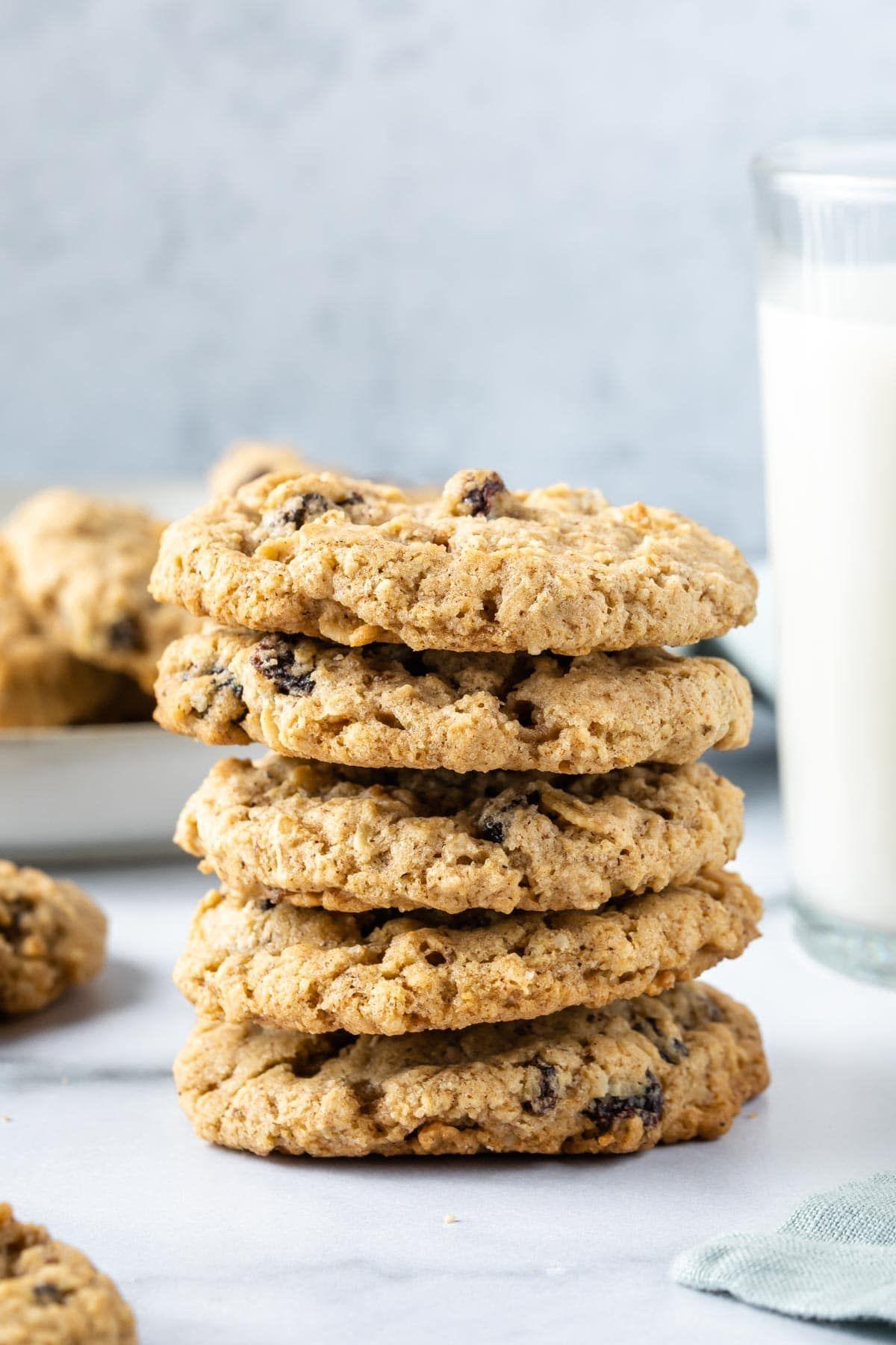 The Best Vegan Oatmeal Cookies Recipe Simply Whisked Recipe In 2020 Best Oatmeal Cookies Vegan Oatmeal Vegan Oatmeal Raisin Cookies