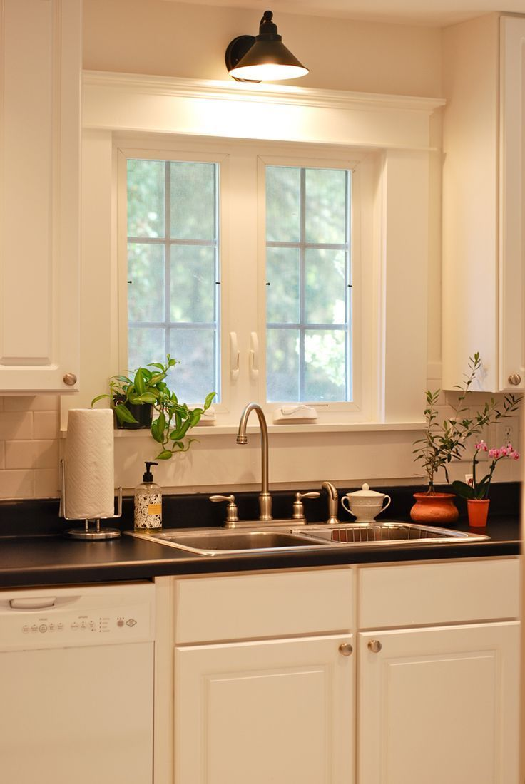 Kitchen window molding  sconces in the kitchen  sinks window and kitchens