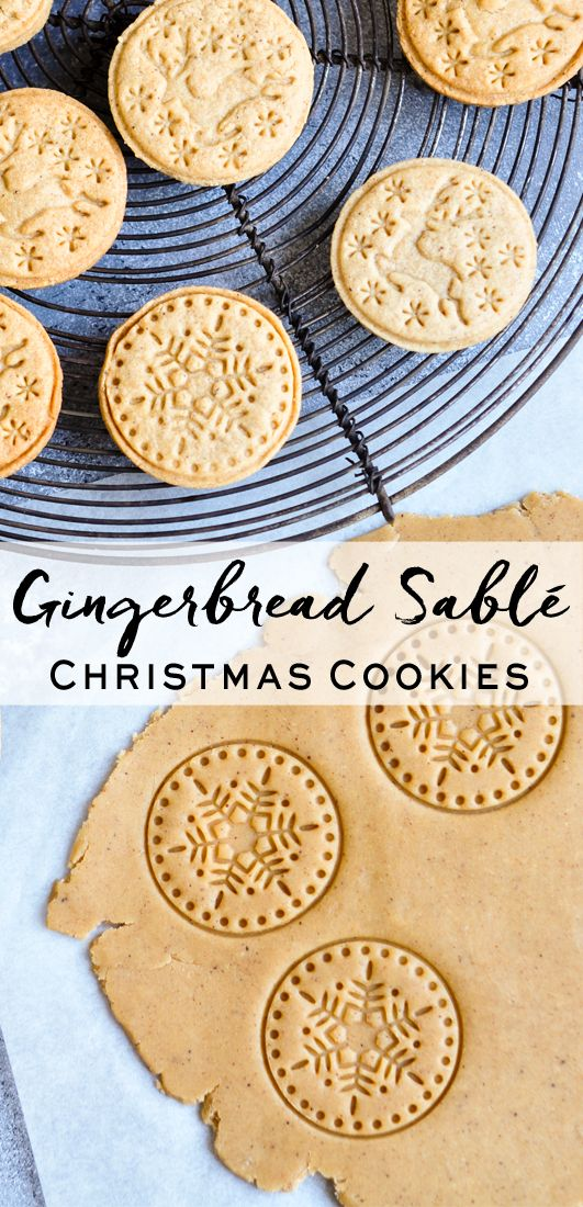 Gingerbread Sablé Recipe Christmas cookies, Gingerbread and