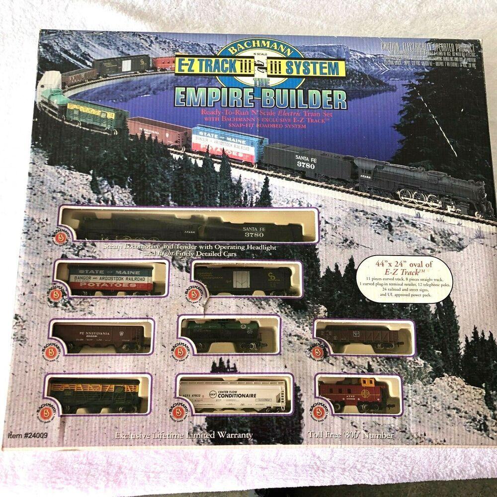 Bachmann Trains Empire Builder Designed for Advanced Train Enthusiast N Scale Ready to Run Electric Train Set