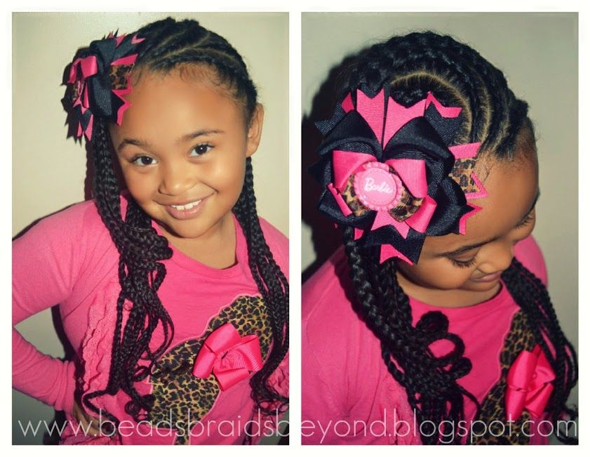Black little girl hair styles  Cornrows braids Natural toddler