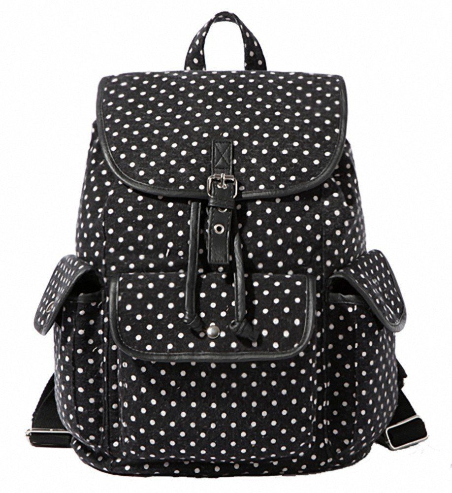Amazon.com  Kenox Casual Canvas Travel School College Backpack bookbags daypack  for Teenage Girls students women (Floral-2)  Clothing f398a95790807