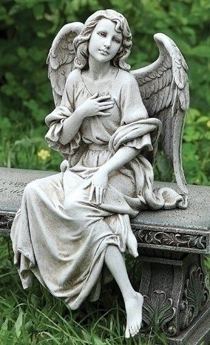 Kneeling Male Angel Garden Statue Angels Among Us Pinterest