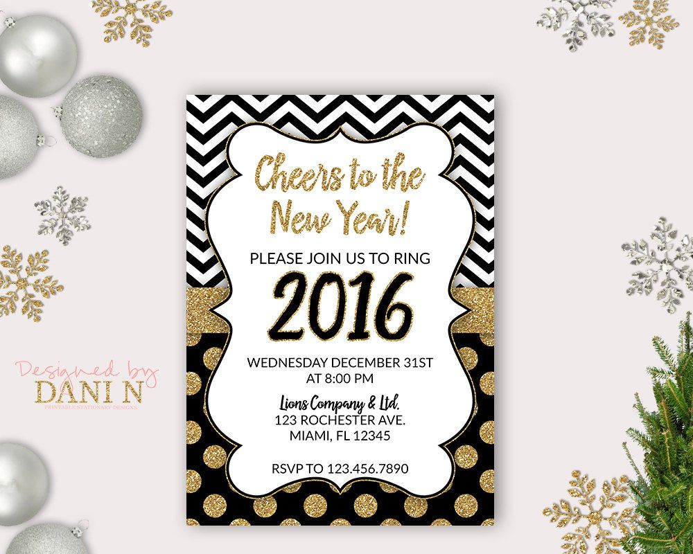 New to DesignedbyDaniN on Etsy: New Years eve Party Invite 2016 ...