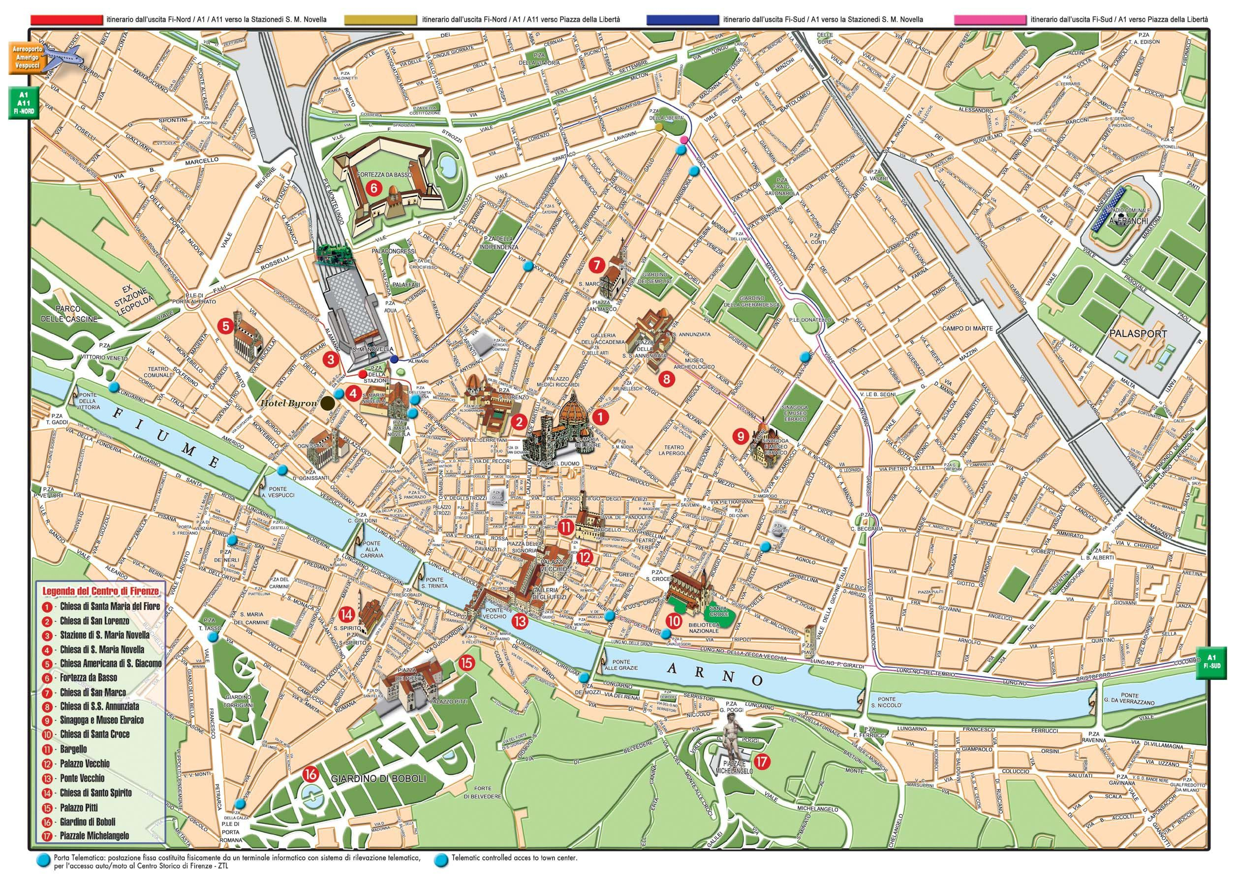 Florence Tourist Map Florence Italy mappery Florence