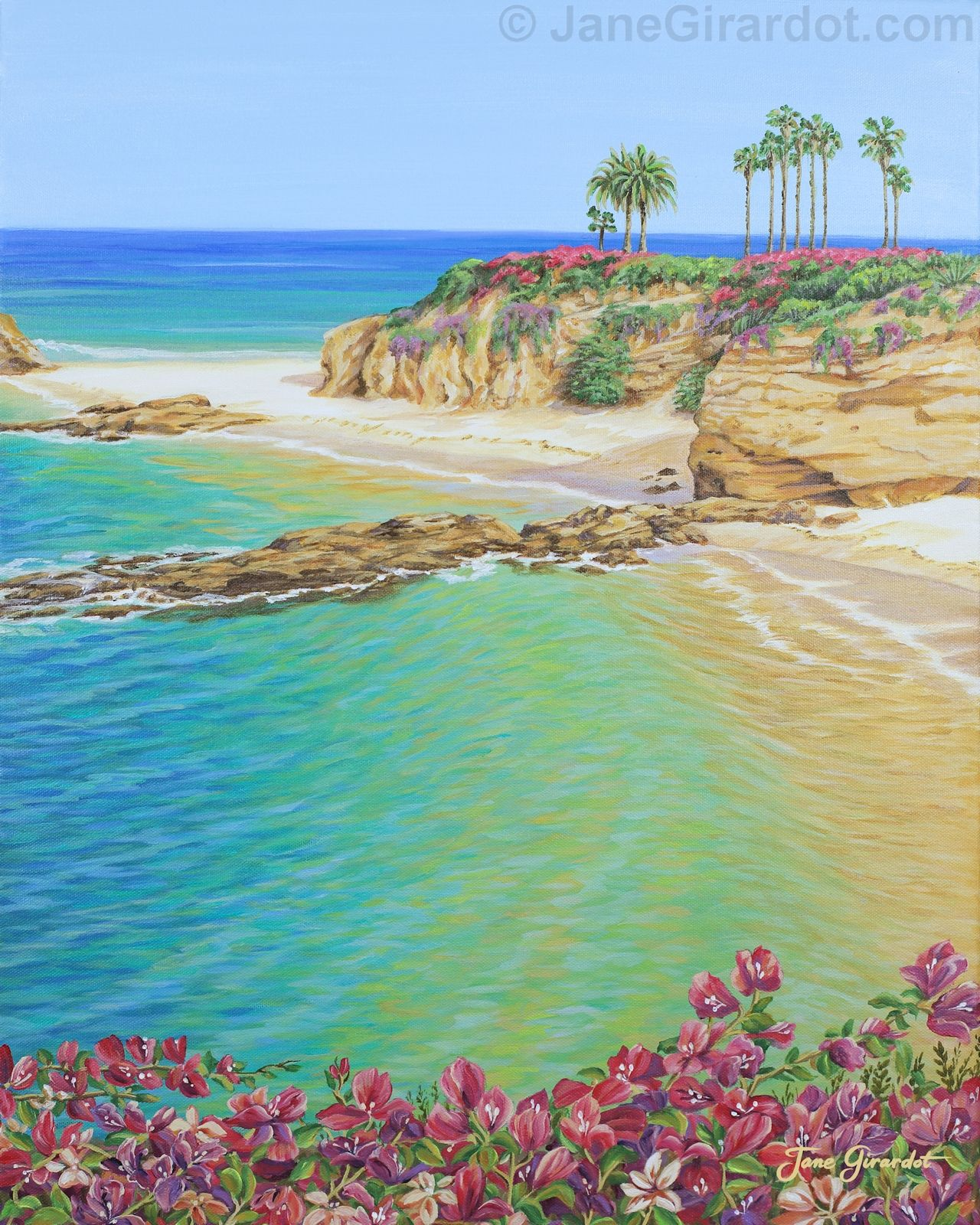Treasure Island Laguna Beach: Treasure Island Beach By Jane Girardot