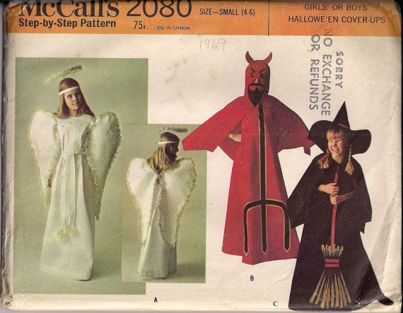 Devil Costume Sewing Pattern Angel Costume Witch by HoneymoonBus ...