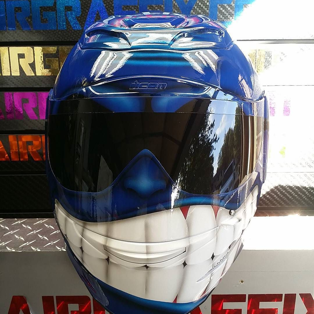 Custom airbrushed motorcycle helmets by airgraffix my top