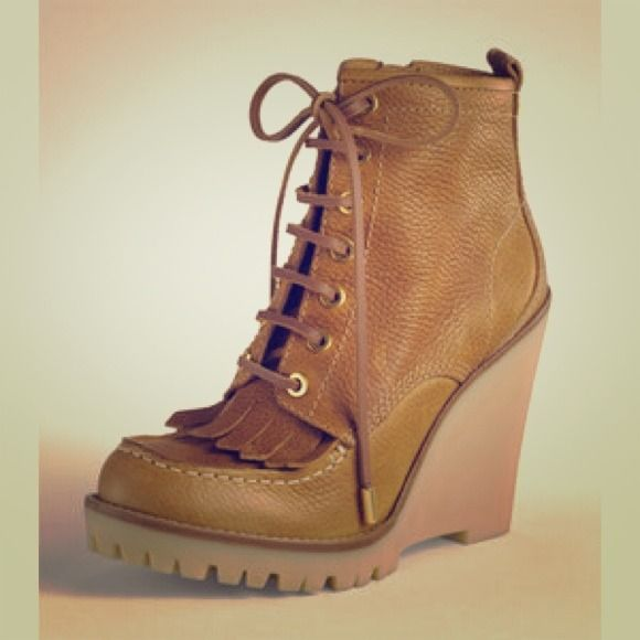 2cd2fe6ee11 Tory Burch Howard Wedge Hiking Boot SOLD OUT!!!Found this great pair ...