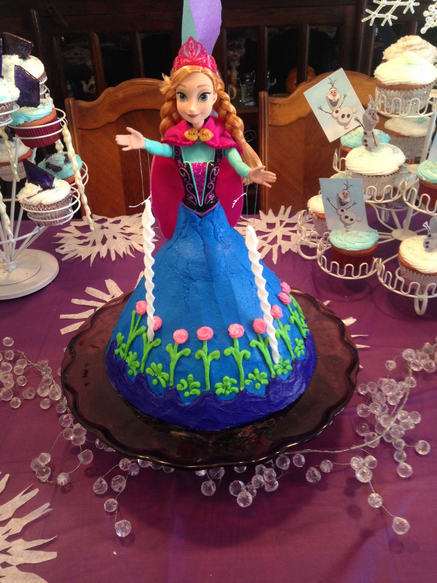 Frozen Party. Anna cake | Frozen themed birthday party ...