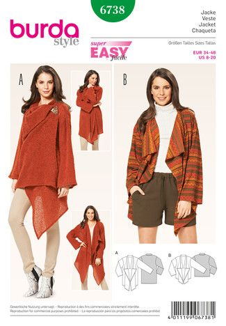 6738 ESB | Jacken,Kimonos etc | Pinterest | Nähen