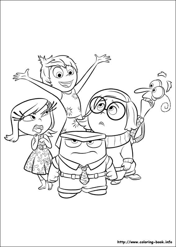 Inside Out Coloring Picture Arielle Inside Out Coloring Pages