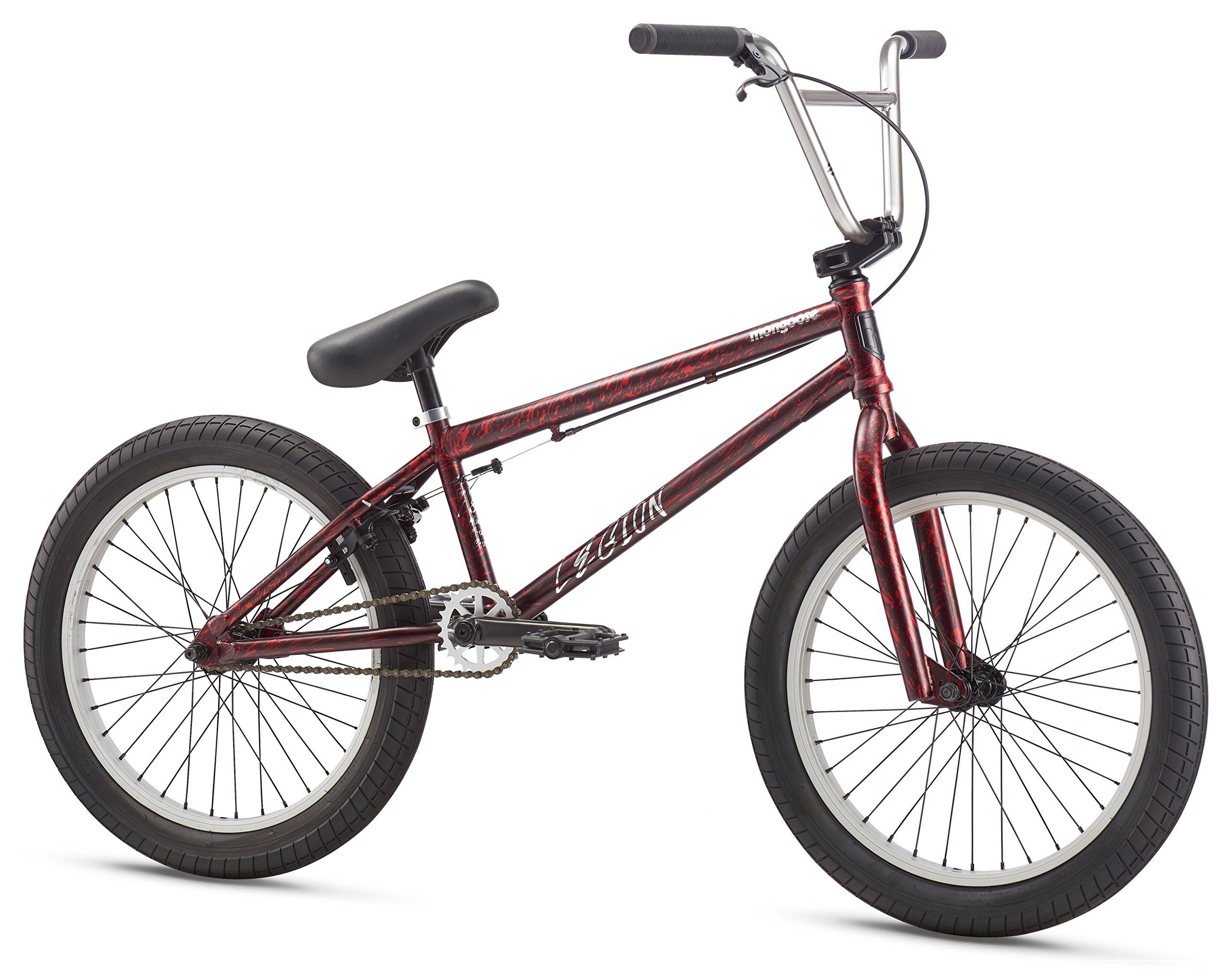 Mongoose Legion L80 20 Wheel Freestyle Bike Maroon One Size Mongoose 20 75 Inch Top Tube Tri Moly Bmx Frame Features A Semi In Bmx Bikes Bmx Frames Bicycle