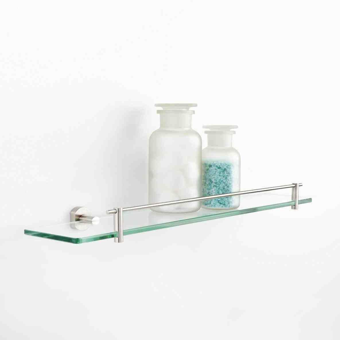 New Post glass shelves bathroom | LivingRooms | Pinterest | Glass ...