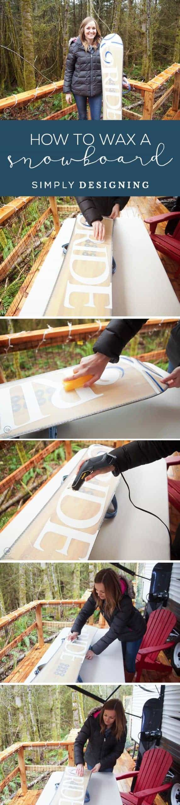 How To Wax A Snowboard Simply Designing With Ashley Snowboard Diy Vanity Lights Rub And Buff