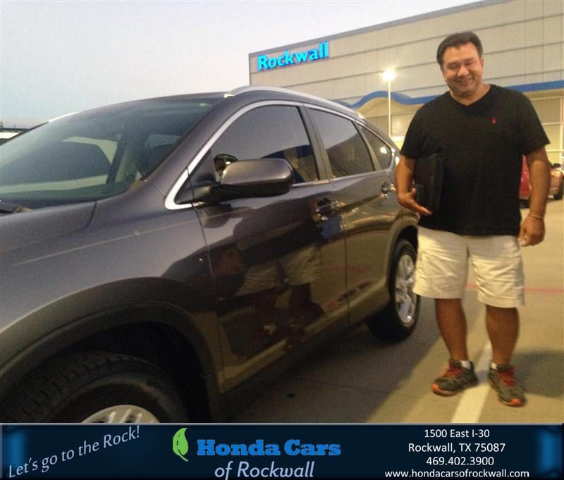 Congratulations mike on your honda crv from teal