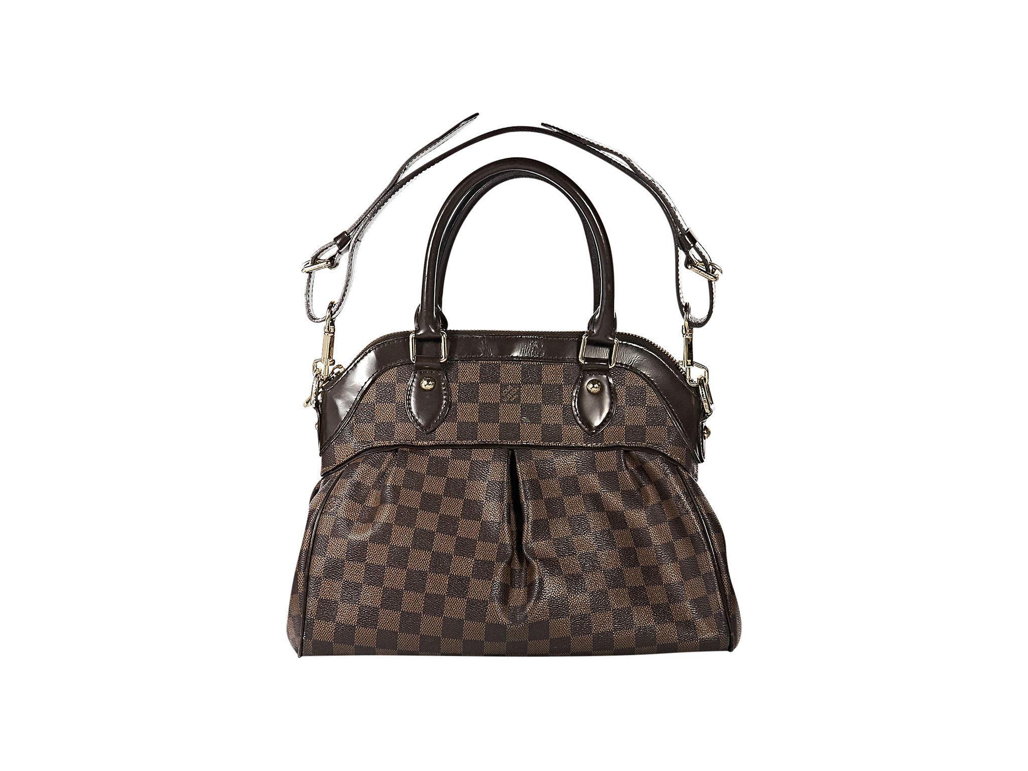 Brown Louis Vuitton Trevi PM Satchel