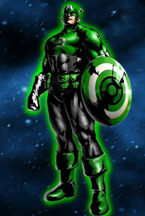 Image result for captain america green lantern