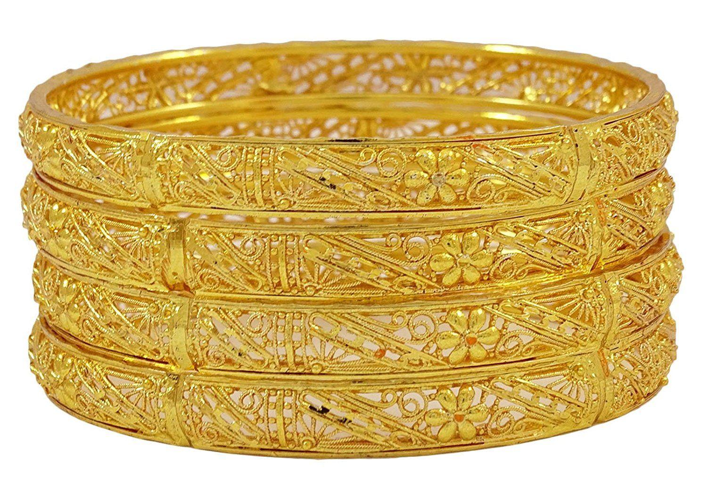 Matra k goldplated ethnic pcs kada bracelet indian women churi