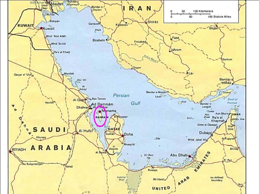 Bahrain Bahrain Map
