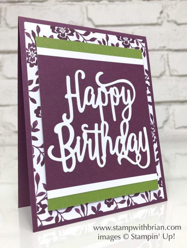 Happy Birthday Thinlits Die, Fresh Florals Designer Series Paper - fresh invitation card of birthday