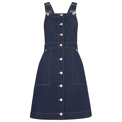 Buy Whistles Gracie Dungaree Dress, Dark Denim Online at johnlewis.com