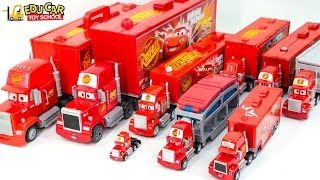 Learning Color Number with Special Disney Pixar Cars Lightning McQueen Mack Truck for kids car toys - YouTube