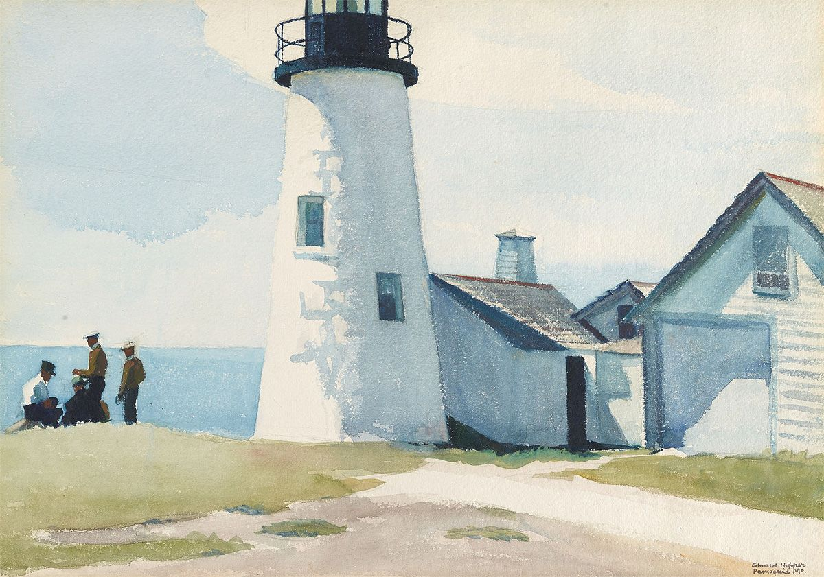 Pemaquid Light By Edward Hopper Watercolor And Graphite On Paper