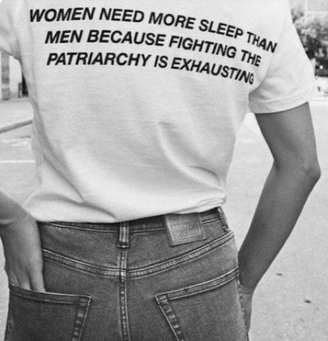 Buy Women Need More Sleep Than Men Because Fighting The Patriarchy is Exhausting T-shirt from one of our favourite stores with high quality print. Fast worldwide shipping. Just 24$ You will also have the options to choose Sweatshirt , Chiffon Top , Tank Top , Hoodie etc. of the same print and on many other cool designs on the link.