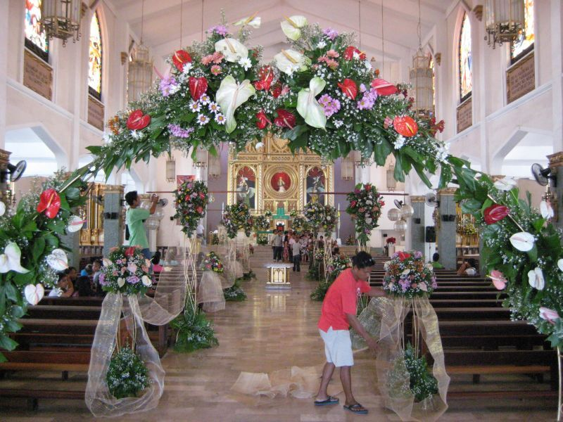 Wedding Flower Decoration Lebanon : Floral decorations of the church wedding ideas decors
