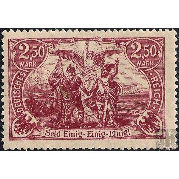 2.50 Mark Ø Genius with Torch German Stamp 1920