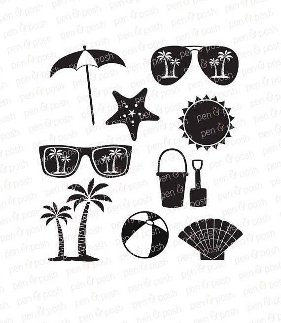 Beach Svg Vacation Svg Beach Dxf Summer Svg Files Svg