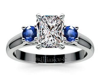 Radiant Round Sapphire Gemstone Engagement Ring in Platinum  http://www.brilliance.com/engagement-rings/round-sapphire-gemstone-ring-platinum