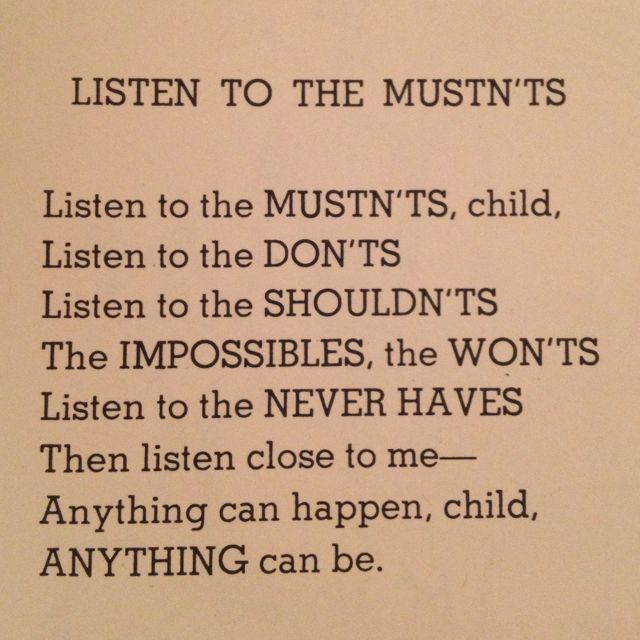 Shel Silverstein . . . to celebrate my daughter who has MS and ...