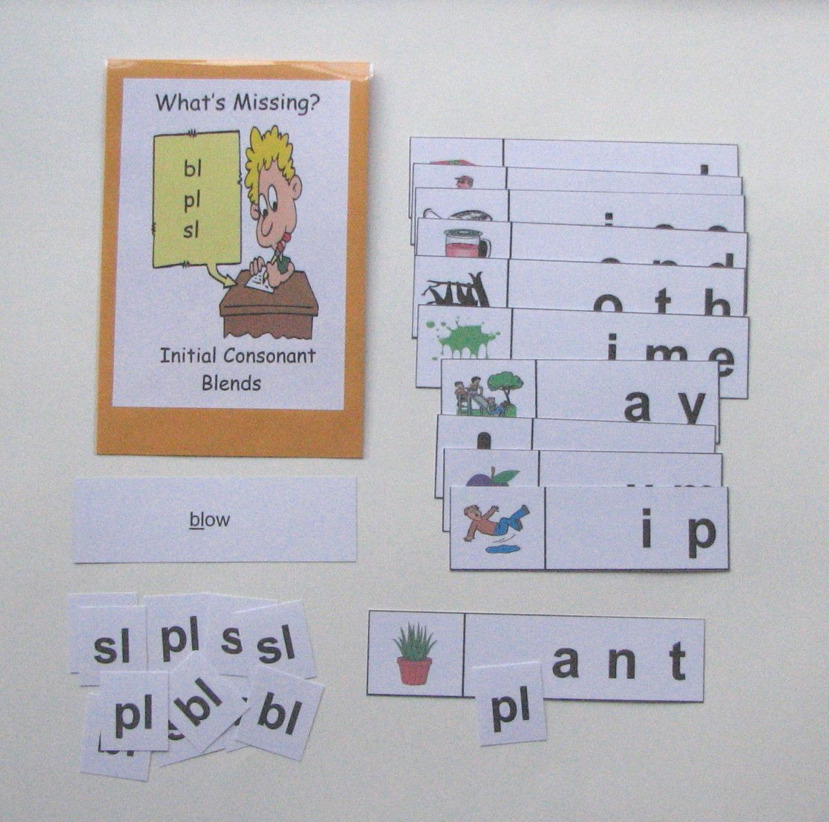 Initial Consonant Blends First Grade Students Can