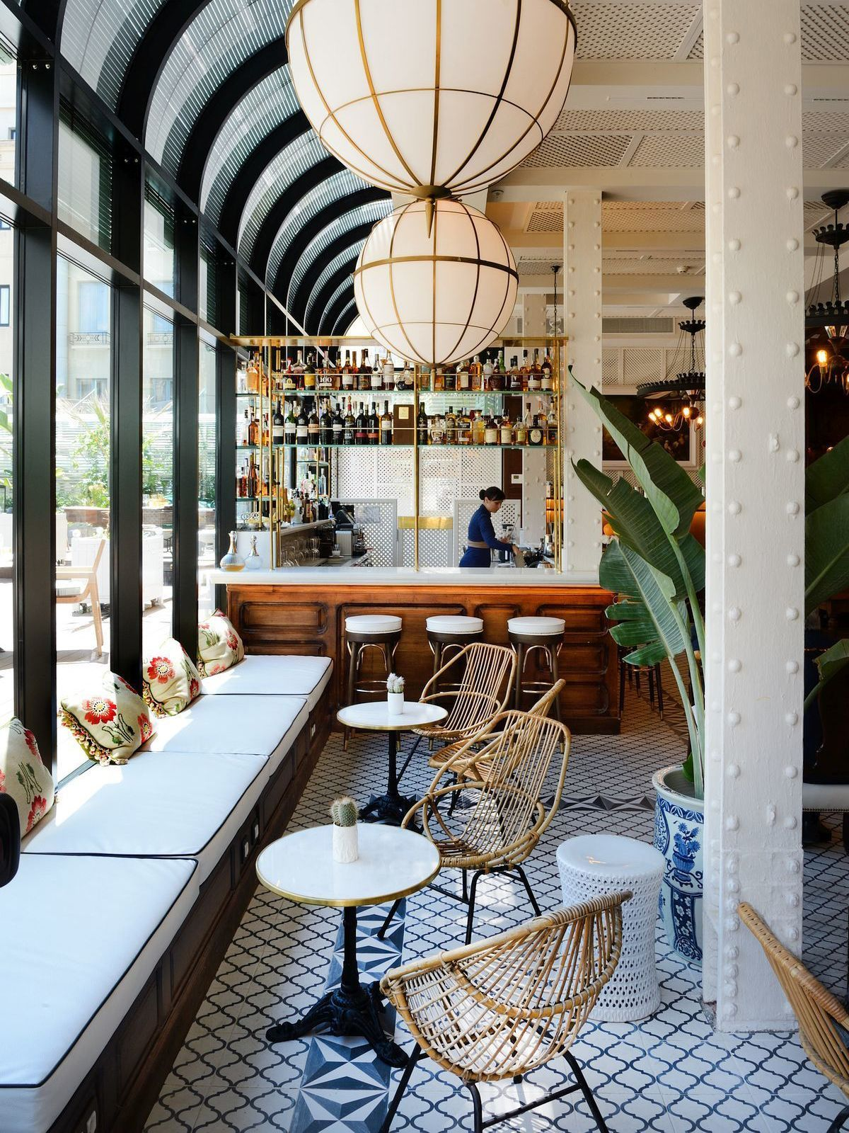 Plantation colonial style at cotton house hotel in barcelona via coco kelley