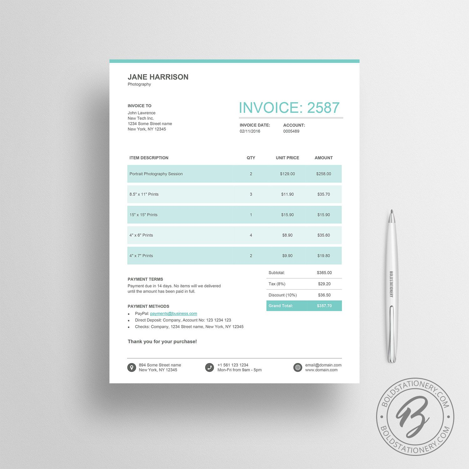 Invoice Template 03 Quote Template Receipt Template Invoice