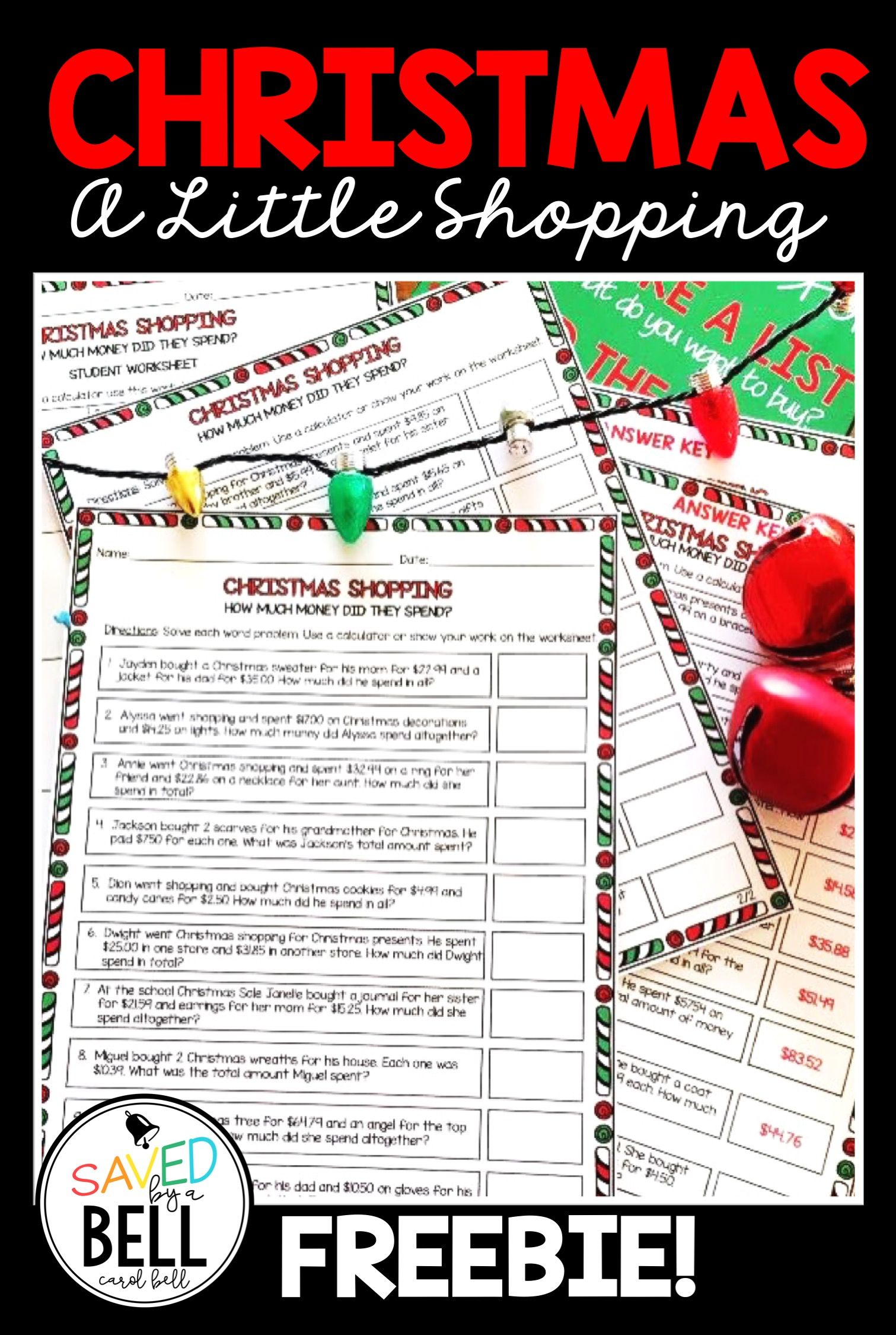 Free Christmas Addition Worksheets