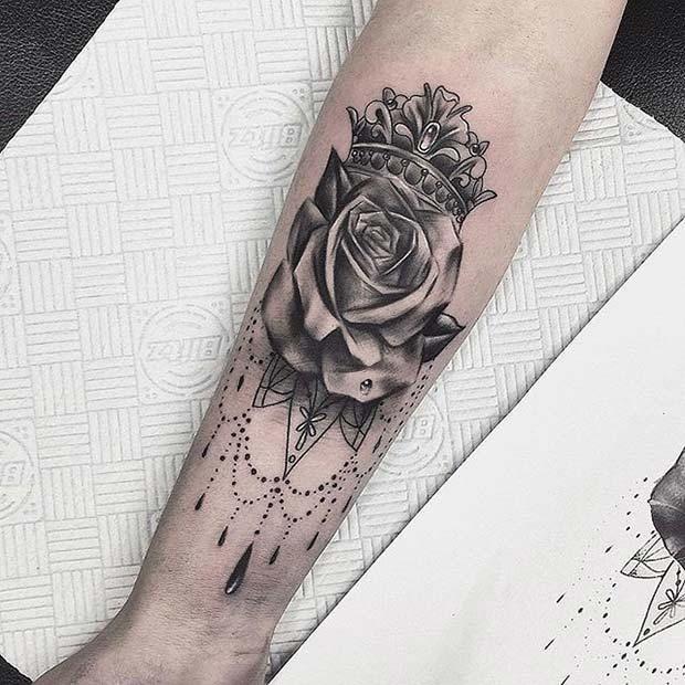 12 Creative Crown Tattoo Ideas For Women 1 Crown And Rose Crown Tattoos For Women Crown Tattoo Crown Tattoo Design