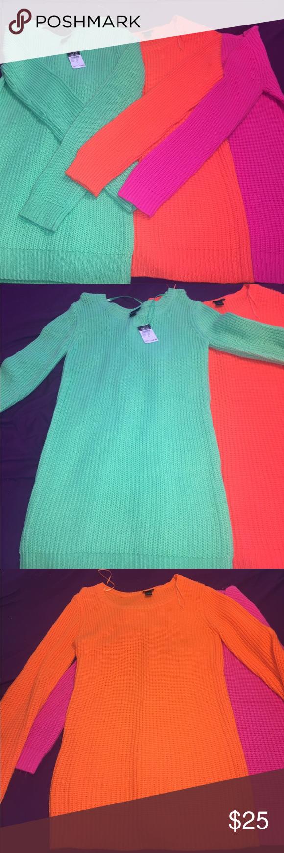 Bundle Deal: 3 Rue21 tunic sweaters | Keys, Cotton and Matching set
