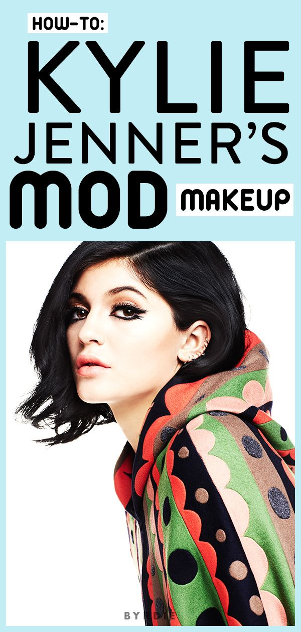 Your step-by-guide to recreating Kylie Jenner's mod eye makeup via @byrdiebeauty // #Makeup #Eyes