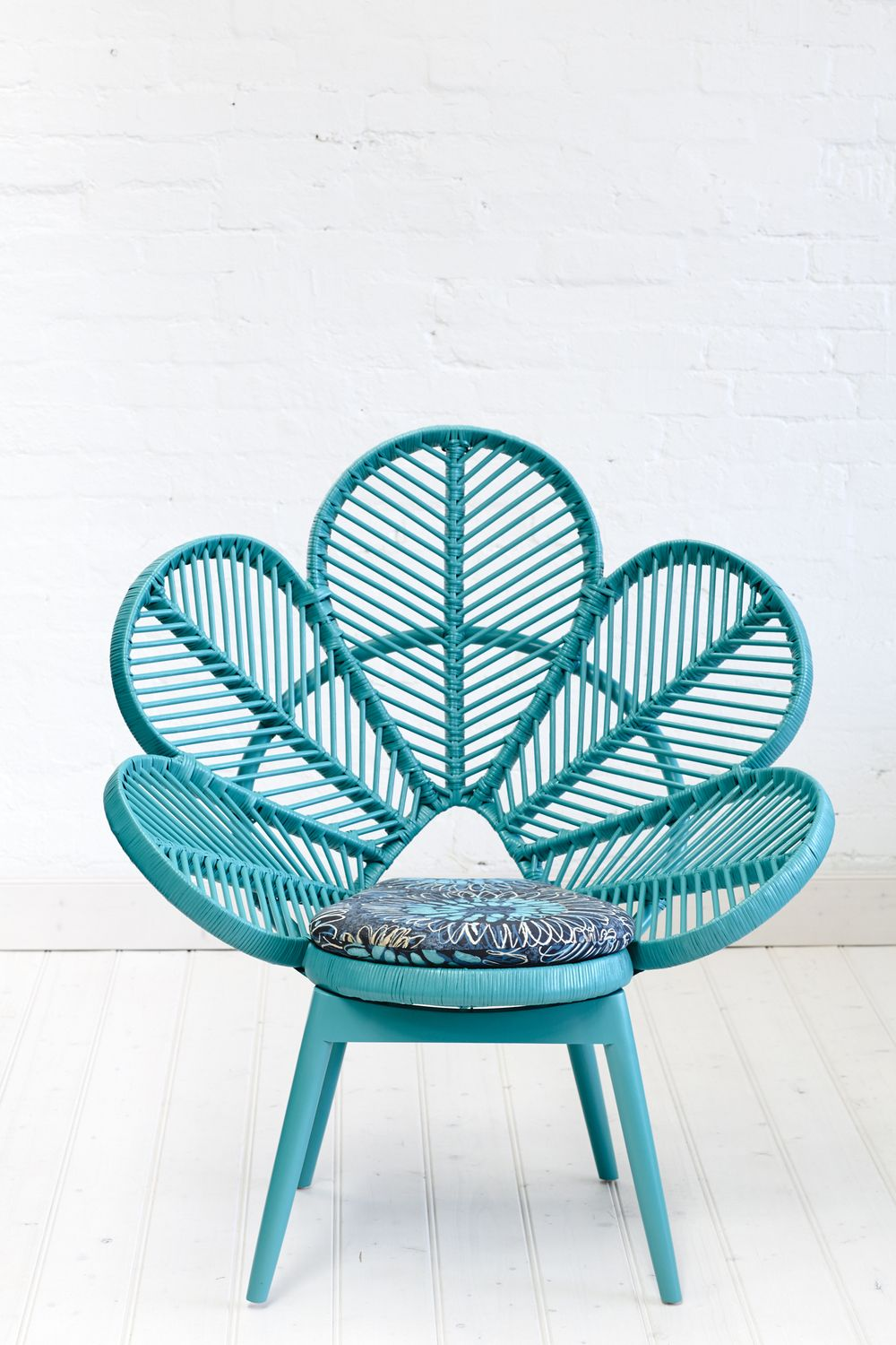 """Teal rattan """"Love Chair"""" from The Love Family Tree in ..."""