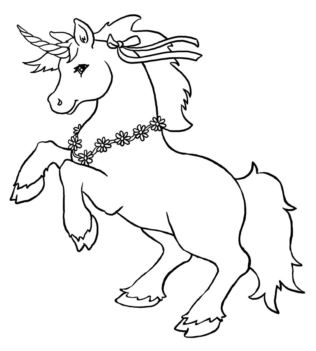 free coloring kids unicorn # 8