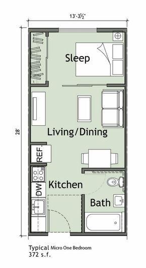 Apartamento Pequeno De 1 Quarto Houses Eb Pinterest