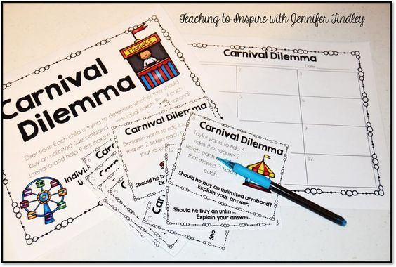 Carnival Math Freebie { Real Life Math #mathintherealworld