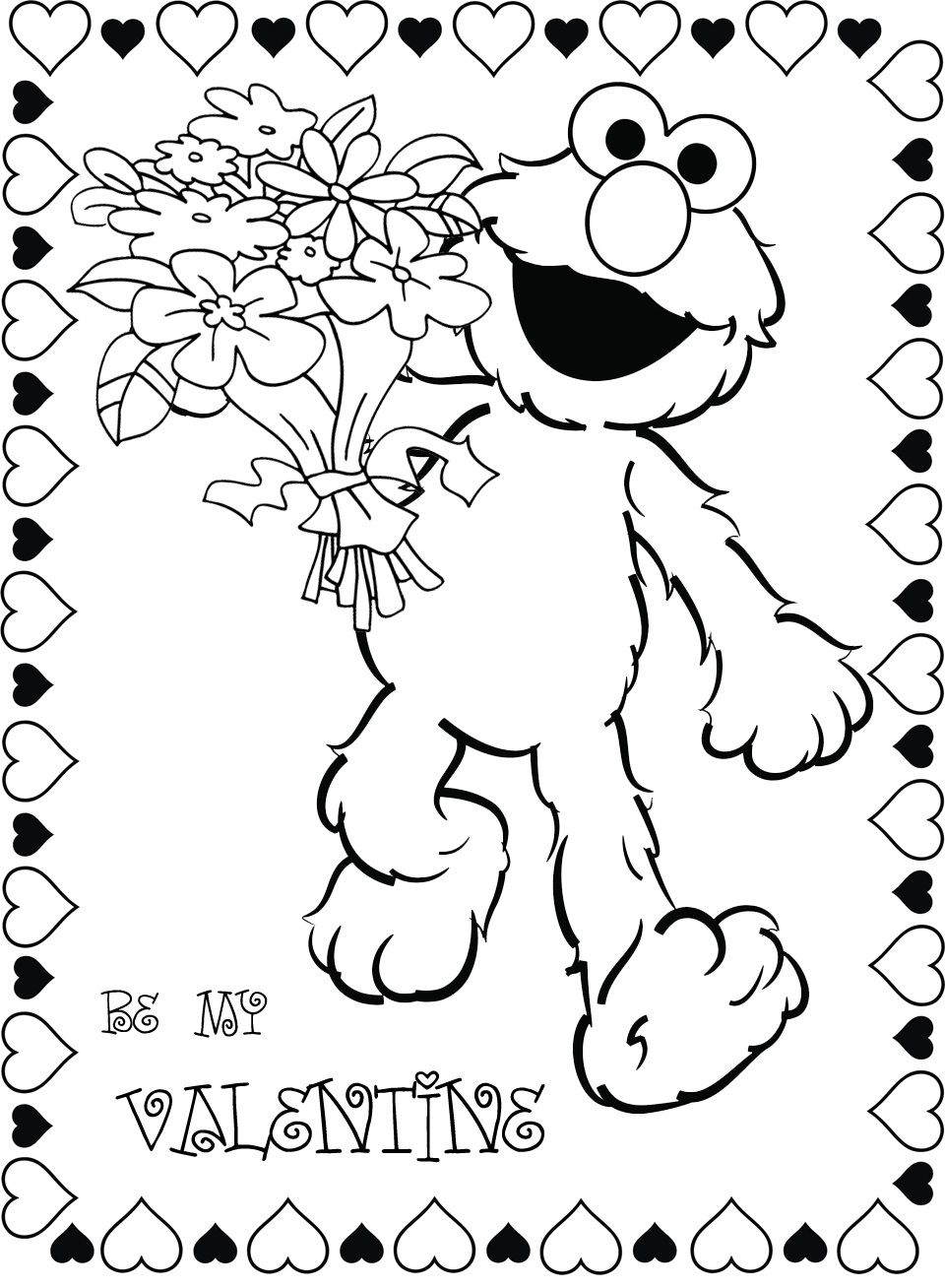 Pin By Valentines Day On Valentines Day Coloring Sesame Street